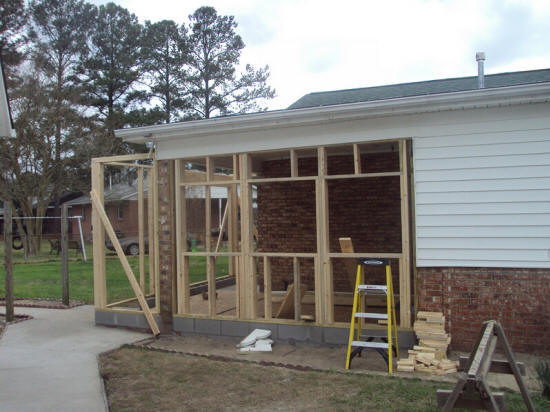 We will convert your porch to another room, like enclosing it in to a sun room with lots of sunlight.