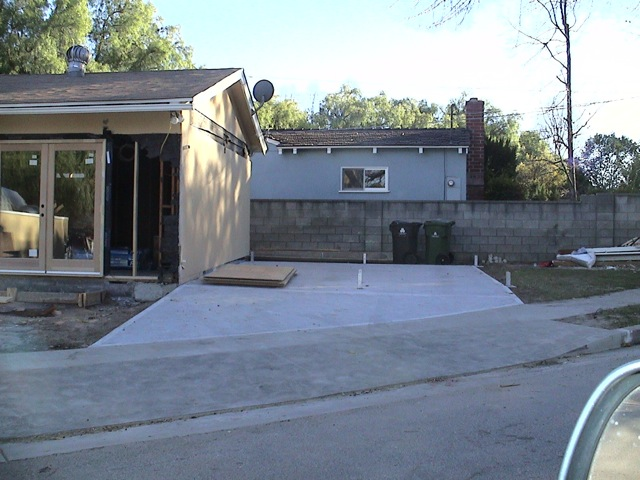 On the left is the garage that was converted in to a home office.
