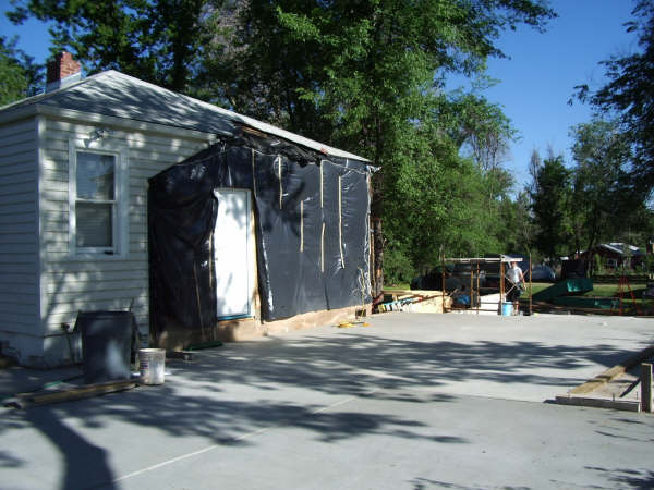 Here is the home just prior to adding the garage.