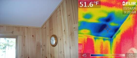 roof leak detected with infrared inspection